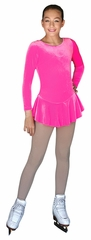 ChloeNoel Folly Pink Long Sleeve Velvet Practice Dress