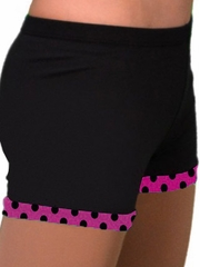 ChloeNoel Fuchsia Dots Skating Shorts