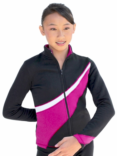 ChloeNoel Fuchsia/White 2 Tone Polar Fleece Jacket