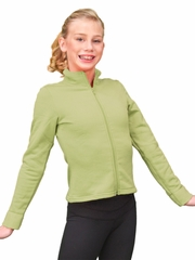 ChloeNoel Grass/Dark Turquoise 2-Tone Polar Fleece Fitted Jacket