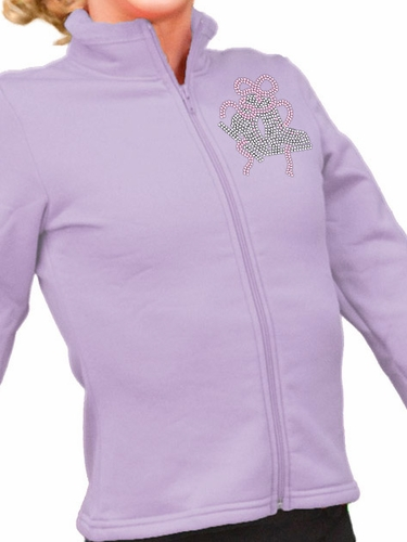 ChloeNoel Iris Polar Fleece Fitted Jacket w/ Custom Crystal Design