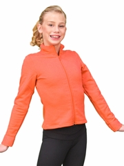 ChloeNoel Orange Polar Fleece Fitted Jacket