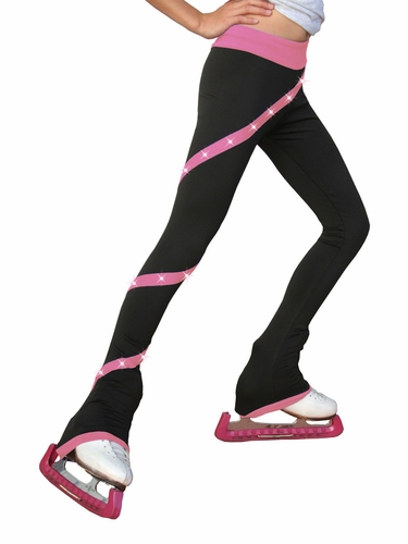 ChloeNoel Pink Polartex Fleece Spiral Pants w/ Swarovski Crystals