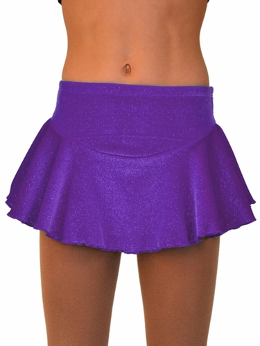 ChloeNoel Purple Circle York Sparkle Velvet Skirt