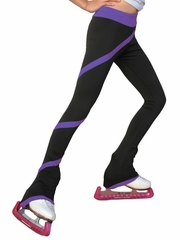 ChloeNoel Purple Polar Fleece Spiral Pants by Polartec