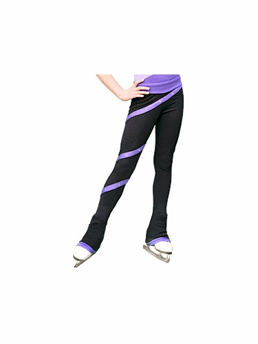ChloeNoel Purple Polartex Fleece Spiral Pants w/ Swarovski Crystals