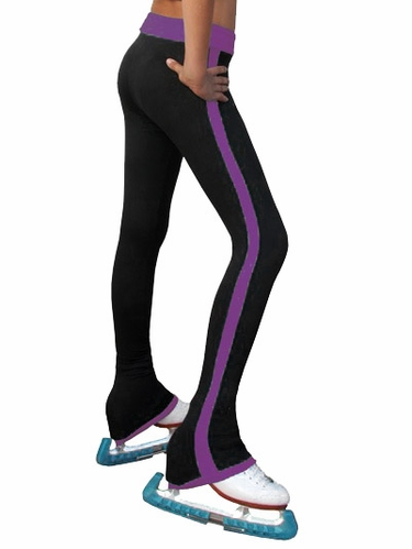 ChloeNoel Purple Side Stripe Pants