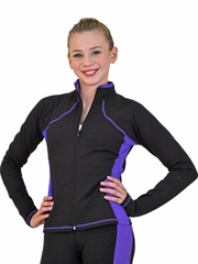 ChloeNoel Purple Supplex Princess Seam Jacket