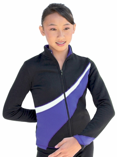 ChloeNoel Purple/White 2 Tone Polar Fleece Jacket