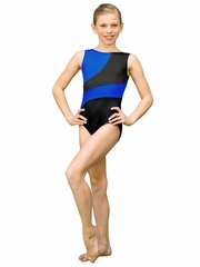 ChloeNoel Royal Blue 2 Tone Leotard w/ Crystals