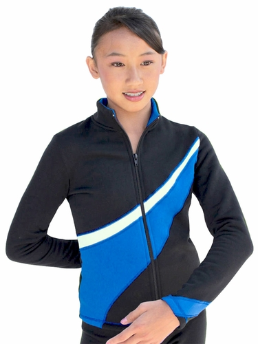 ChloeNoel Royal Blue/White 2 Tone Polar Fleece Jacket