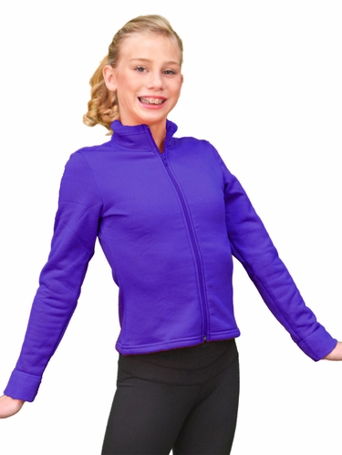 ChloeNoel True Purple Polar Fleece Fitted Jacket