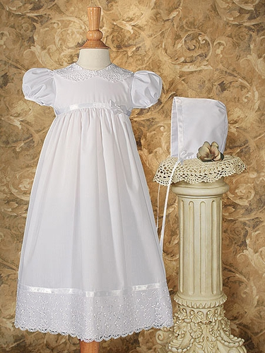 Christening Dress w/ Lace Collar