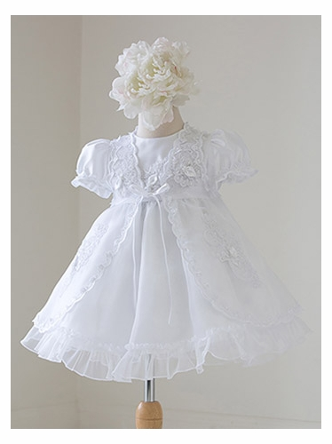 Christening Gown w/ Organza Coat