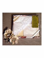 Christening Lace Bonnet & Hankie Gift Set