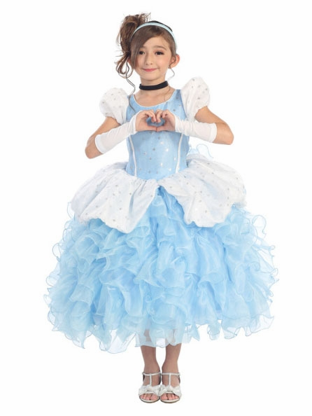 Kid s costumes gt princess dress up gt cinderella deluxe ruffle costume