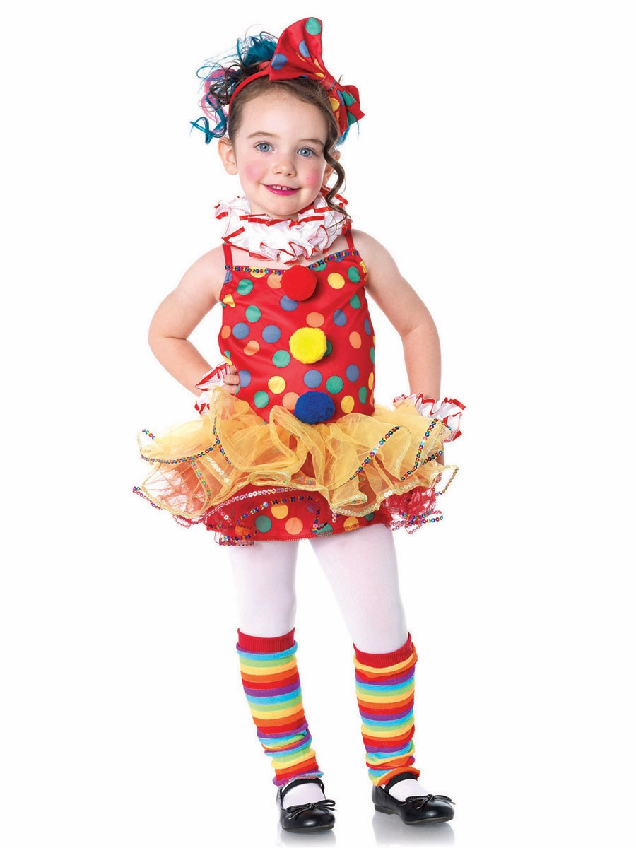 Home gt kid s costumes gt girl s halloween costumes gt circus clown 5 pc
