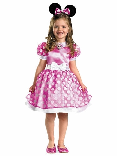 Club House Pink Minnie Mouse Classic Costume