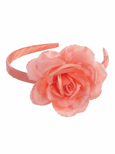Coral Headband w/ Large Flower