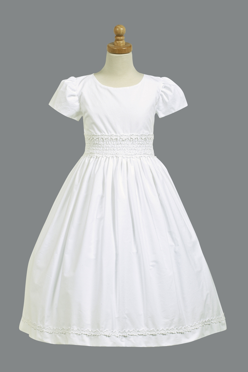 Wedding First Communion Dress communion dress w smocked waistband cotton waistband