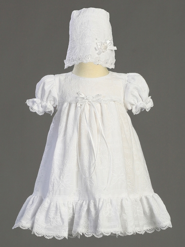 Cotton Embroidered Christening Dress