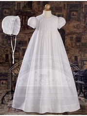 Cotton Gown Hand Embroidered and Smocked