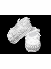 Country Kids White Pearl Ribbon Shoe