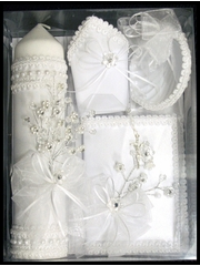 Crystal Baptism Candle Gift Set