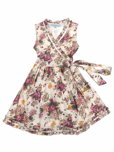 Cupcakes & Pastries Floral Cream Wrap Dress