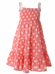 Cupcakes & Pastries Peach Maxi Dress w/ Lurex Trim & Dots
