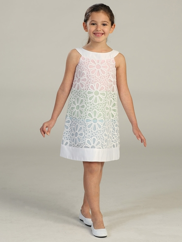 Daisy Multi Colored Eyelet Dress
