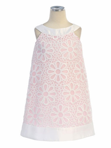 Daisy Pink Eyelet Dress