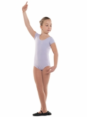 Danshūz Lilac Short Sleeve Cotton Leotard