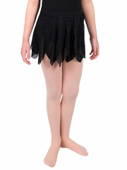 Danskin Black Girls Glitter Petal Skirt