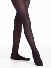 Danskin Girls Black Footed Student Tights