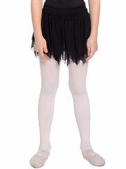 Danskin Girls Black Sheer Petal Ruffle Skirt