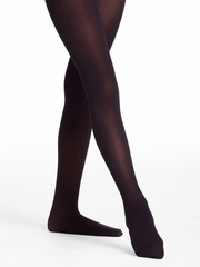 Danskin Girls Black Ultrasoft Microfiber Footed Tights