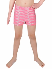 Danskin Girls Dusted Periwinkle Sparkle Shorts