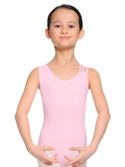 Danskin Girls NYCB Pink One Sleeve Tank Leotard