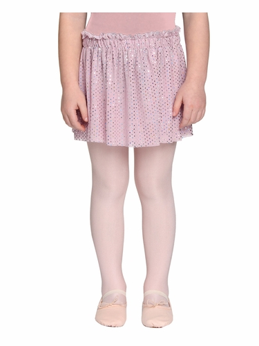 Danskin Girls Petal Pink Foil Skirt