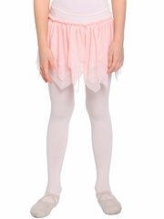 Danskin Girls Pink Sheer Petal Ruffle Skirt