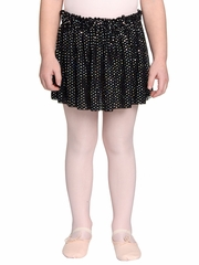 Danskin Girls Rich Black Foil Skirt