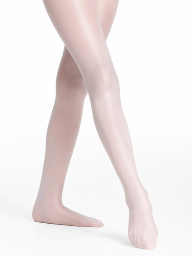 Danskin Girls Theatrical Pink Ultra Shimmery Footed Tights
