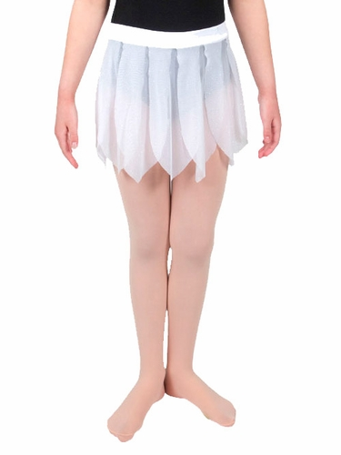 Danskin White Girls Glitter Petal Skirt