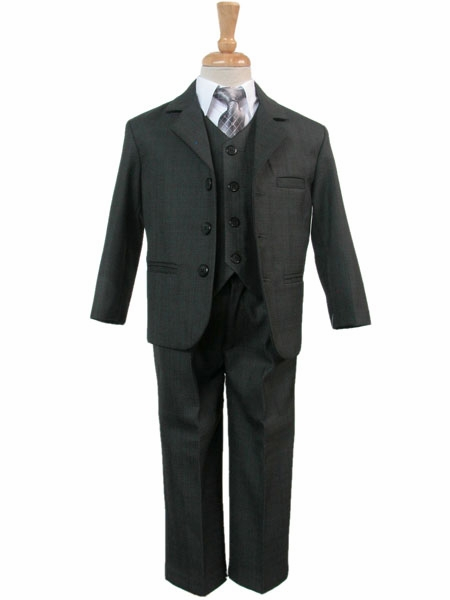 5pc Formal Wedding Boys Dark Gray Vest Necktie Sets Suits Baby to Teen (4T) by Unknown. $ $ 64 out of 5 stars 3. Product Features Dark gray single breasted notch lapel jacket. iGirlDress Little Boys Vest Pants Special Occasion Easter Outfit Set Infant by iGirldress.