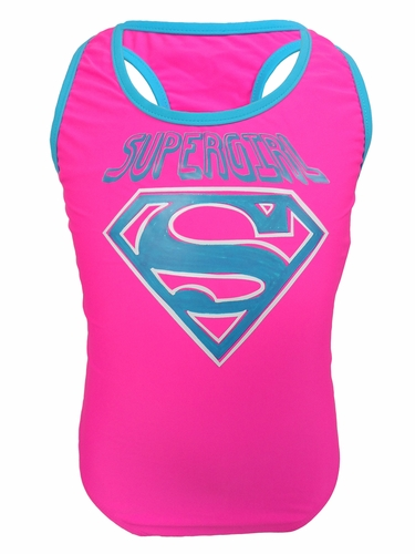 DC Comics SuperGirl Racerback 1PC Swimsuit