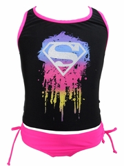 DC Comics Supergirl Tank 2PC Swimsuit