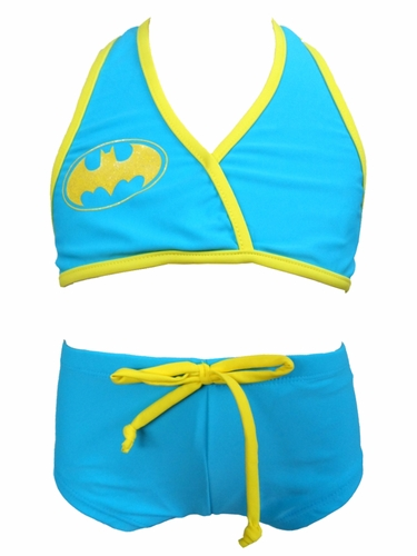 DC Comics Wrap Halter BatGirl 2PC Swimsuit