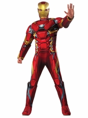 Marvel Civil War Iron Man Adult Deluxe Muscle Costume