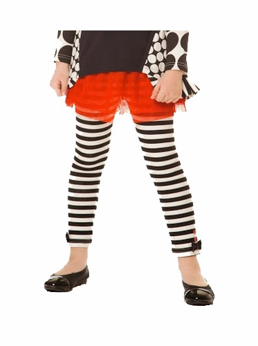 Deux Par Deux Dog Story Stripe Leggings w/ Red Skirt
